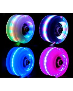 Zafiro Flashing High Abrasion Resistance Indoor & Outdoor Quad Wheels (Set of 8)