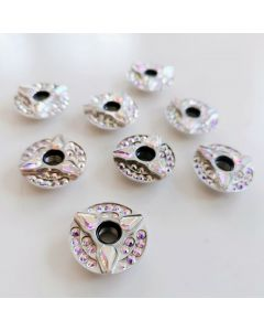 Roller Skates Self Lock Nuts Fancy Silver Disk