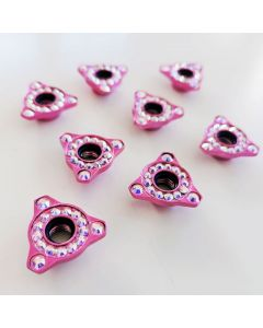 Roller Skates Self Lock Nuts Fancy Pink Triangles