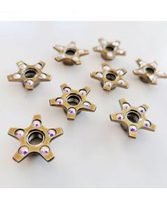 Roller Skates Self Lock Nuts Golden Simple Stars