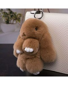 Real Rabbit Fur Bag Accessory 14cm