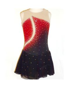 Figure/Artistic Skating Practice/Performance Dress - Red & Black