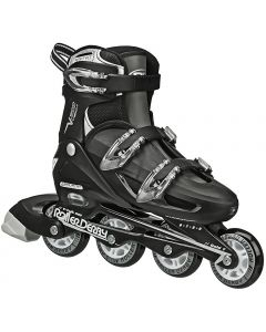 Roller Derby V-Tech 500 Size Adjustable Inline Skates Black (adult size 6 - 9 adjustable)
