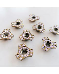 Roller Skates Self Lock Nuts Fancy Gold Triangle Indented