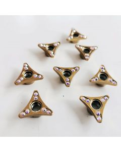 Roller Skates Self Lock Nuts Simple Gold Triangles
