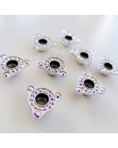 Roller Skates Self Lock Nuts Fancy Silver Triangles