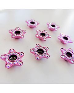 Roller Skates Self Lock Nuts Fancy Pink Stars