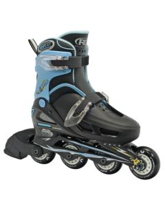 Roller Derby Cobra Boys Size Adjustable Inline Skates Black (Size Jr12 - 1 adjustable)