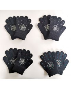 Knitted Skating Gloves with Rhinestones(for children under 130cm)