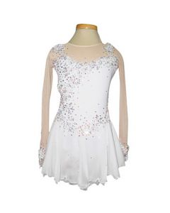 Figure/Artistic Skating Practice/Performance Dress - White Floral