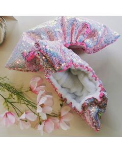 White & Pink Reversible Sequins Soakers